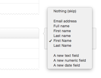 Create custom fields for first and last names | Campaign Monitor