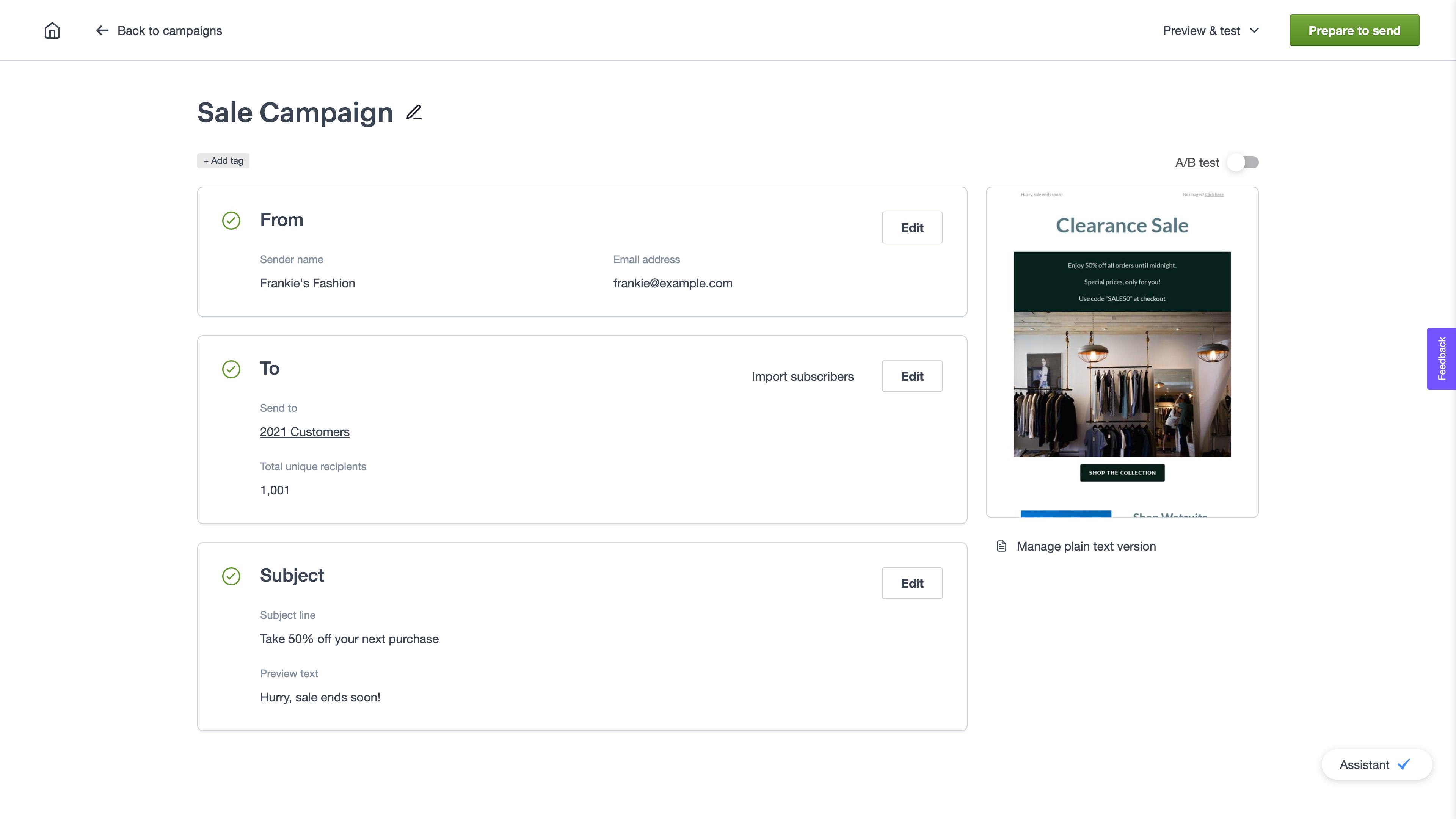 Campaign Checklist
