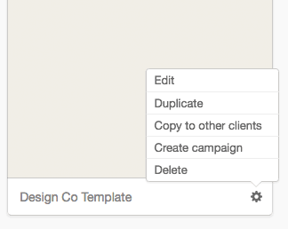 identify the different template types in your account campaign monitor