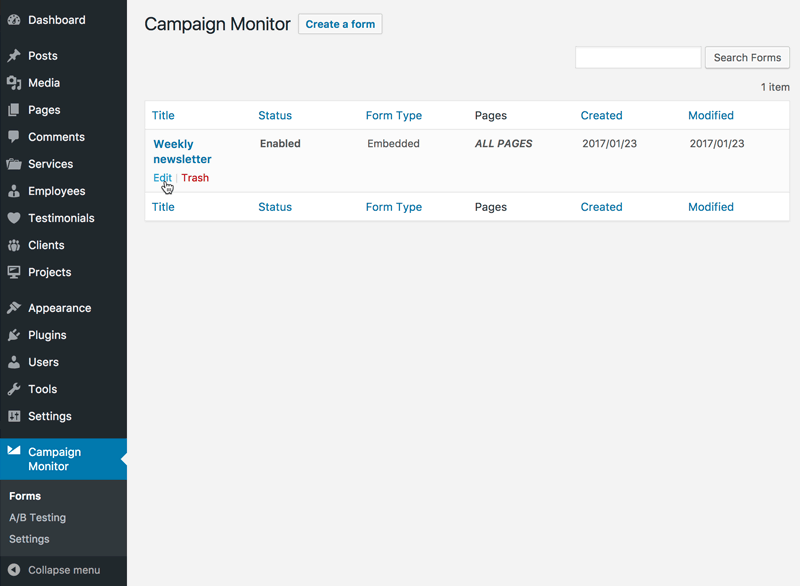 About Campaign Monitor for Wordpress   Campaign Monitor